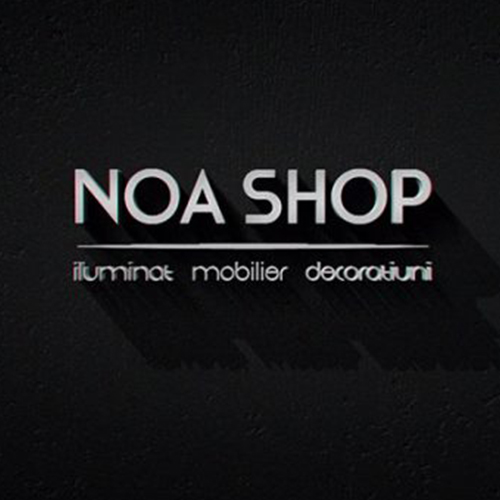 Vector logo design for Noa Shop