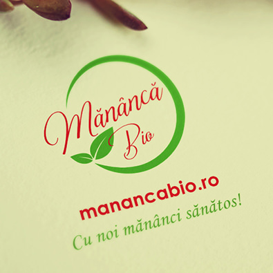 Logo design and blog redesign for Mananca Bio